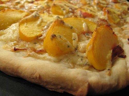 Peach & Blue Cheese Pizza