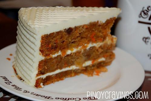 Carrot Wallnut Cake - The Coffee Bean and Tea Leaf