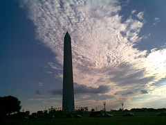 Washington Monument and Cirrocumulus