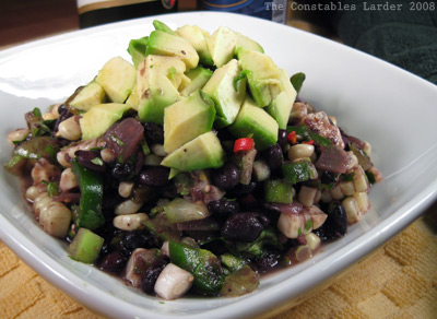 black beans salsa