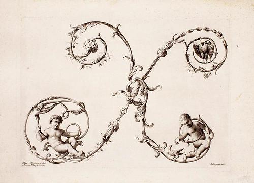 22-letra X-Poggy Mauro 1750- Alfabeto di lettere iniziali