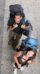 Farewell with backpacks, or so we thought, Donostia-San Sebastian, Spain