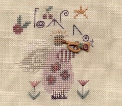Fear Not (Deep Fried Cupcake (Andrea)) Tags: christmas angel crossstitch silk trumpet ornament stitching shepherdsbush