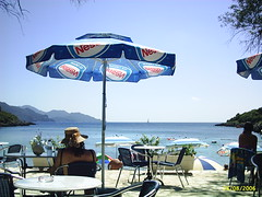 syvota parga beach (nickola's) Tags: sea woman beach back rest syvota