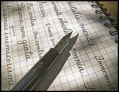 handwriting fountainpen nib penmanship picnik esterbrook vintagepen