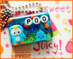 Juicy Poo (stOOpidgErL) Tags: blue sky orange cute grass stars landscape skull diy necklace candy handmade craft jewelry plastic sprinkles kawaii resin pendant stoopidgerl poopreport