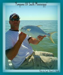 Fishing Mississippi - Joey Lewis of South Carolina With A Beautiful Florida Pompano Caught In South Mississippi - Photo By Capt. Robert L. Brodie (teambrodiecharters) Tags: fish beautiful fishing exotic pompano barrierislands shipisland joeylewis charterboat exoticfish guideservice deliciousfish beautifulfish floridapompano teambrodiecharters