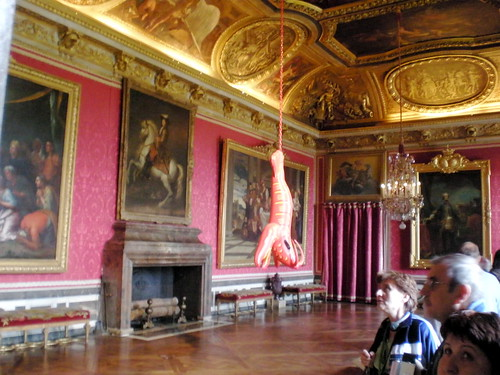 A beautiful room in Versailles... and a lobster pool toy