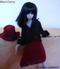 black cherry bjd outfit for narae (soudane) Tags: felted knitting handmade clothes bjd dollfie outfits msd handknitted narin balljointeddolls narae asianballjointeddolls