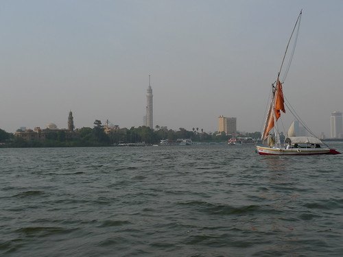 Nile with Cairo Tower in Background