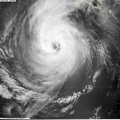 Hurricane Norbert at 2045Z on Oct 10, 2008