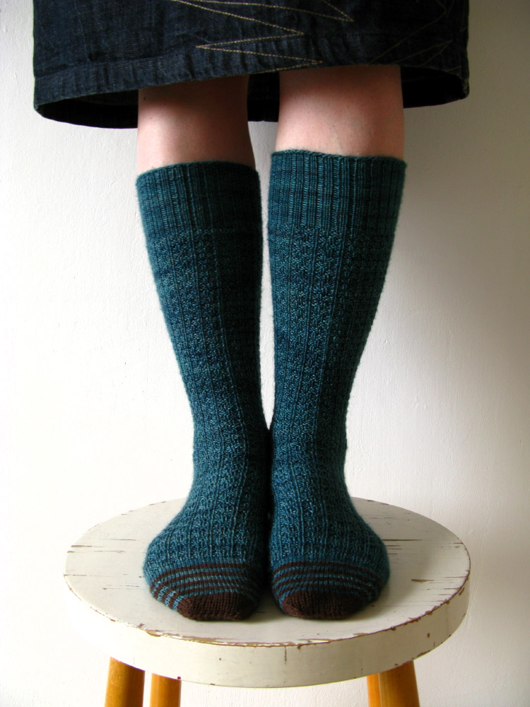Gentlemans Sock in Railway Stitch