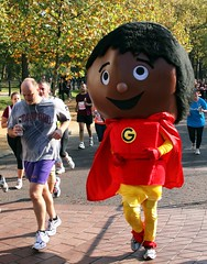 Big-headed (@Doug88888) Tags: pictures red face yellow costume image head picture running run images gloves massive buy huge cape purchase