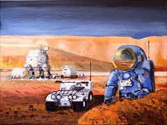 Mars Mobility Systems, by Pascal Lee (Pascal Lee) Tags: mars art painting robot space rover astronaut greenhouse planet astronomy atv spacesuit pressurized pascallee