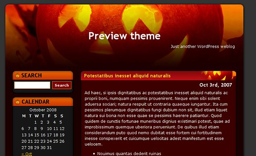 theme-wordpress-halloween-dining-table