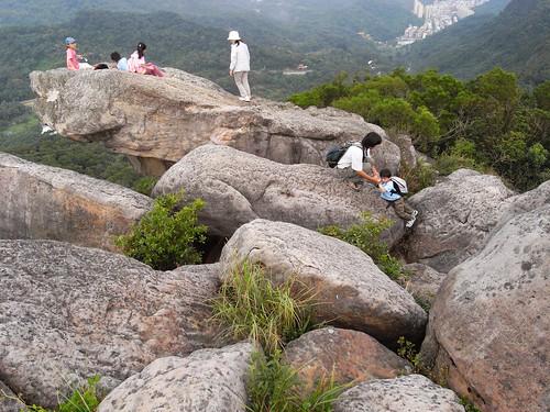 你拍攝的 45攀爬巨岩。