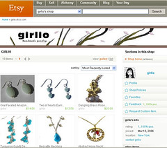 girlio etsy shop jewelry