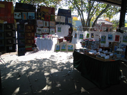 my booth on Sunday