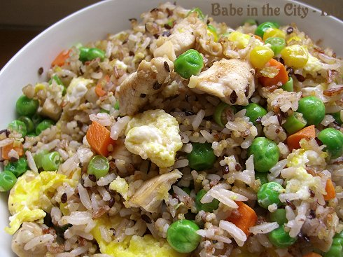 Mixed grains fried rice