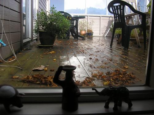 høst på terrassen