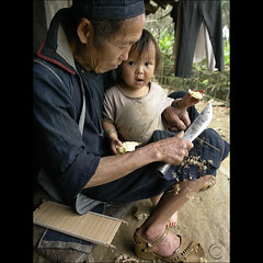 Hmong life of pride (NaPix -- (Time out)) Tags: black men grandfather working bamboo vietnam explore greatgrandfather magical sapa hmong loom heddle explored explorefrontpage sapavillage napix