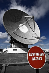STOP - Goonhilly Satellite Earth Station, Cornwall (s0ulsurfing) Tags: uk blue light shadow red england sky bw cloud sunlight colour english history sign clouds contrast photoshop cutout circle arthur big cornwall skies dish bright britain pov circles satellite wide perspective wideangle manipulation ps lizard listening stop massive desaturation round huge british 2008 bt restricted goonhilly colouring satellites parabolic selective helston selectivecolour telecommunications kernow 10mm postprocessing spooks westcornwall englishness earthstation satellitecommunications sigma1020 spys lizardpeninsula supershot s0ulsurfing goonhillysatelliteearthstation antennaone btgroupplc parabolicsatellitecommunicationsantenna parabolicsatellite communicationsantenna