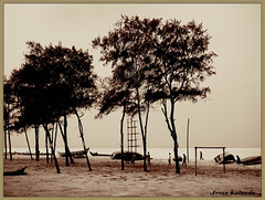 Walking in the sand (Explore) (aroon_kalandy) Tags: friends seascape beach beauty sepia sand awesome soe blueribbonwinner sihloutte beautifulshot anawesomeshot seasunclouds eliteimages malayalikkoottam sonyh50 jediphotographer artisticmode