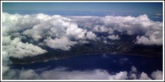 ...Flying High Above the Clouds... (petitillusion) Tags: blue sky portugal clouds island atlanticocean azores smiguel ilustrarportugal