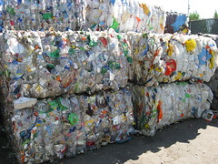 Plastic Bottle Bales (seaotter22) Tags: pet bottles plastic recycle bales recycling bale plasticbottles wastemanagement transferstation davisstreettransferstation