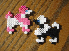 Perler Beads Poodles (Kid's Birthday Parties) Tags: kids beads crafts poodle kidscrafts frenchpoodle fusebeads hamabeads perlerbeads