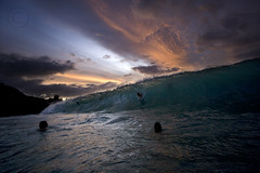 Waimea Last Light ( KristoforG) Tags: beach hawaii surf north wave shore waimeabay