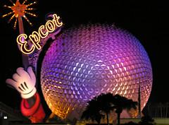 Wishing For Magic (fromky) Tags: usa orlando epcot neon florida disneyworld nighttime mickeymouse amusementpark pm dscn01291