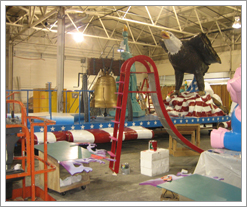 Quicken Loans Marketing Team puts in some time building floats at The Parade Company. www.WhatsTheDIFF.com