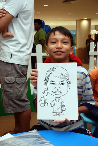 caricature live sketching for West Coast Plaza day 1 - 6
