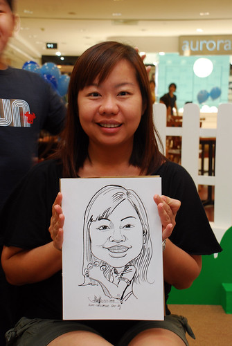 caricature live sketching for West Coast Plaza day 1 - 29
