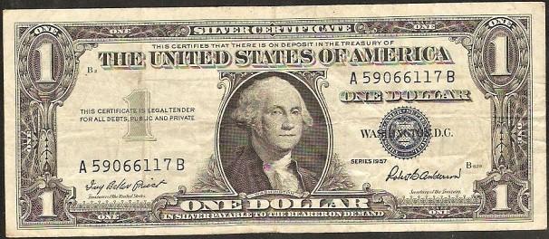 1 dollar USA 1957, P419 - VF-XF