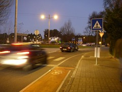 End of the bike lane