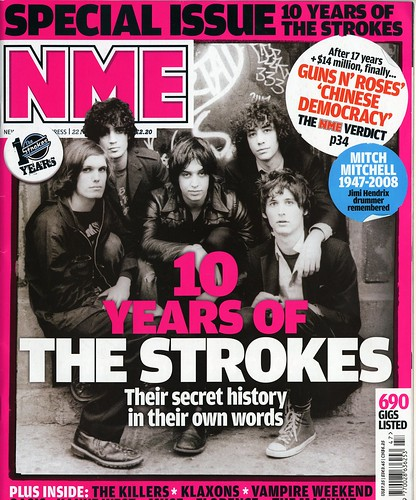 nme front cover. The front cover of NME