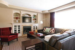 completed living room design for young couple