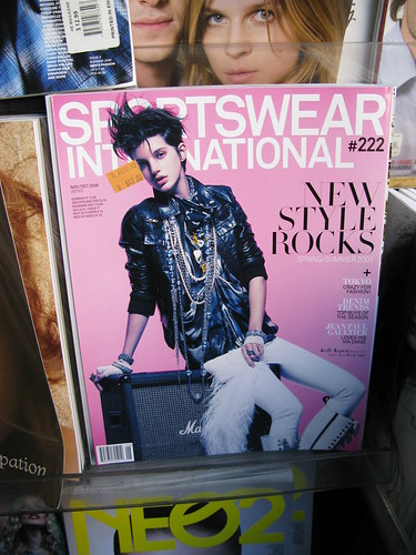 sportswear international magazine on shelf