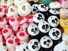 Para Sharon -SP (iai b) Tags: panda gato feltro urso iana porco chaveiro chaveiros toyart iaib
