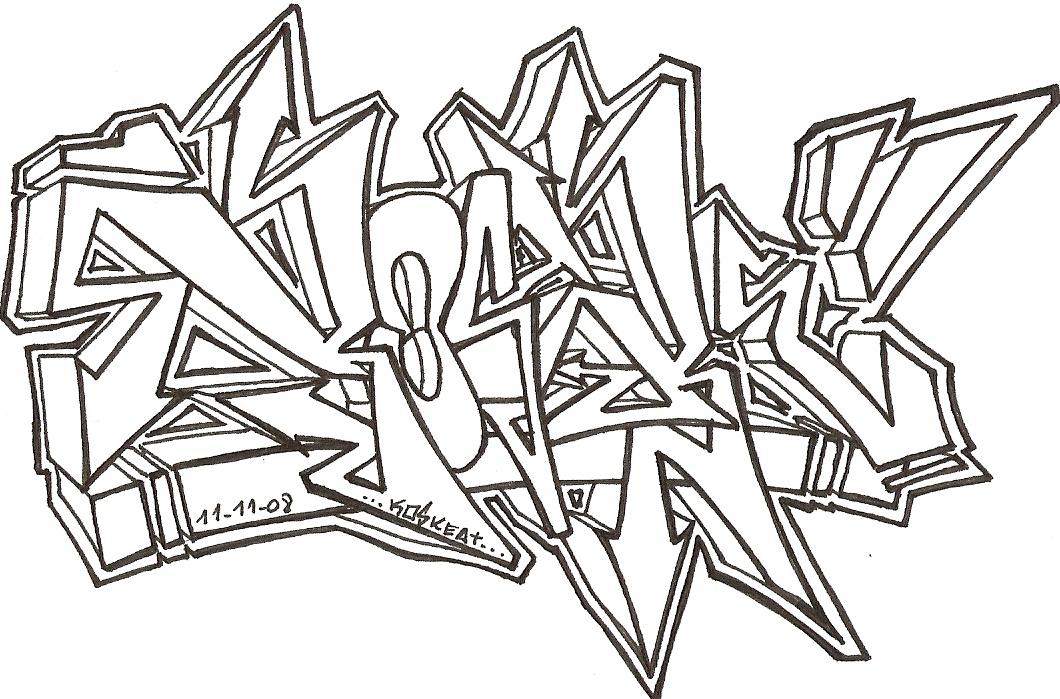 bocetos de graffitis
