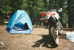Moto-camping (twm1340) Tags: camping honda colorado offroad tent sierra 1993 backpacking co motorcycle designs flashlight backpacker rei nylon slaughterhouse gulch xr650l parkcounty