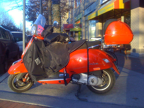 Winter Vespa - Taken With An iPhone