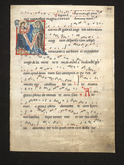 Leaf from a choirbook, about 1250, Germany or northern Netherlands.  Museum no. 1519