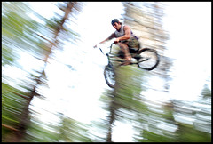 dive bombs away (huntingtherare) Tags: motion blur speed movement bmx shot time trails pan panning