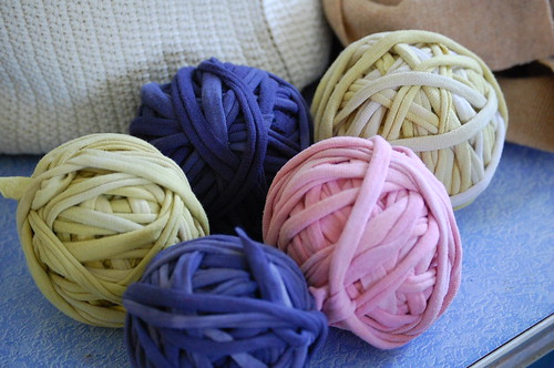hand dyed t-shirt yarn