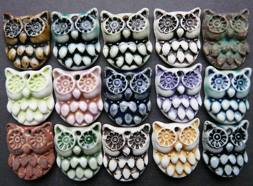 Owl Mini Porcelain Charm