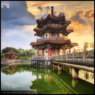The Chinese Pagoda at 228 Peace Park in Zhongzheng District, Taipei, Taiwan :: HDR