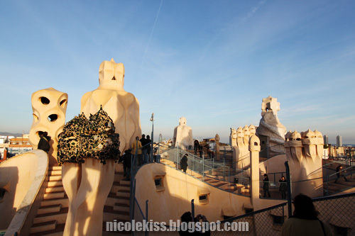 casa mila rooftop overview